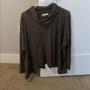 Lush M Cowl Neck Open Back Top